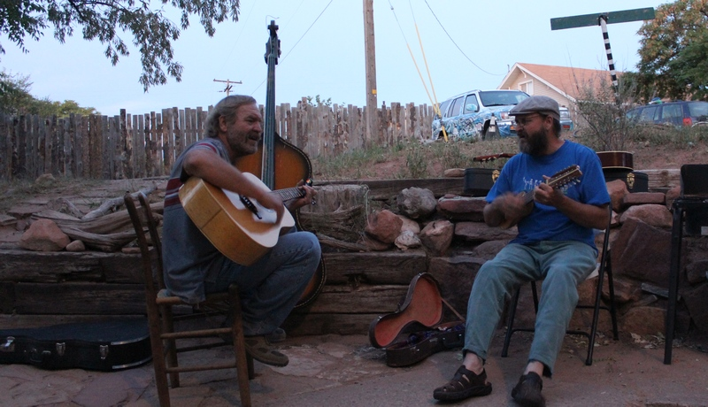 Music at the Lazy Lizard Hostel